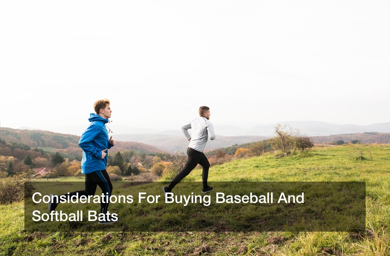 Considerations For Buying Baseball And Softball Bats